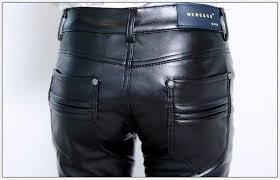 new men leather pants male korean slim feet pants pu leather pants casual menswear casual pants