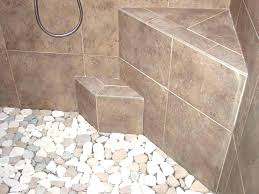 river rock tile floor how to install river rock shower floor river rock tile floor pebble