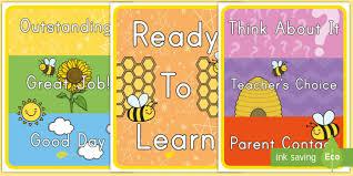 Busy Bee Behavior Chart Behavior Management Plan