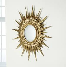 elegant gold sunburst mirror wall decor with round wall mirror decor for splendid interior wall decorating ideas