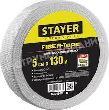 <b>Серпянка самоклеящаяся FIBER</b>-<b>Tape</b> 5 см х 130 м <b>STAYER</b> ...
