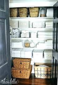 bathroom closet organizer closet bathroom linen closet storage ideas