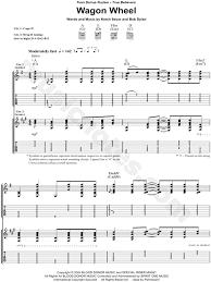 wagon wheel sheet music