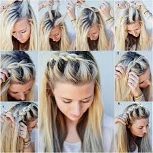 Hairstyle Yourself diy half up side french braid hairstyle simpletofollow guide 6280 by stevesalt.us