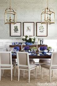 feather bloom gr cloth wallpaper a wallpaper with a delicate pattern and a very large repeat creates interest in a dining room design by andrew howard