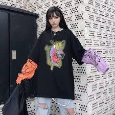 <b>NiceMix</b> Harajuku T <b>shirt</b> Women Tops Fake 2 Pieces <b>TShirt</b> ...
