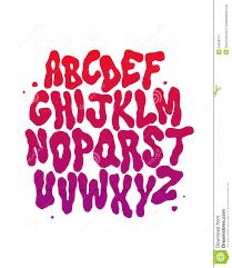 Abstract Font Vector Alphabet Stock Vector Illustration