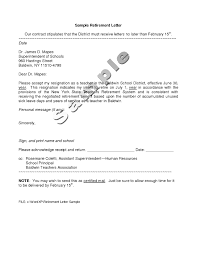 Retirement Letter Template To Employer Cover Letter Example