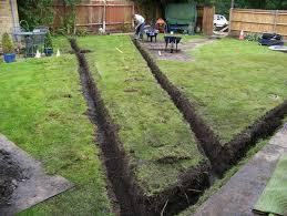 garden drainage. Lawn Drainage - Woking, Surrey Garden A