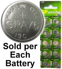 Gp A76 Lr44 Ag13 Alkaline Button Size Battery On Tear