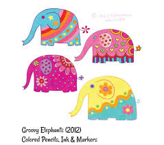 colorful elephant drawings. Plain Colorful Whimsical Drawings Of Cute Elephants By Thaneeya McArdle Learn How To Draw  These Colorful In Thaneeyau0027s Book Draw Groovy Published FW  Throughout Colorful Elephant Drawings O