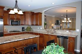 New For Kitchens New Home Kitchen Designs Kitchen With Granite Island New Home