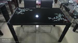 black lacquer dining room furniture. contemporary rectangular black lacquer tempered glass top and metal base dining room setsdinner table furniture