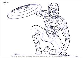 Learn How To Draw Spiderman From Captain America Civil War Captain