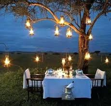 outdoor tree lighting ideas. Outdoor Hanging Tree Lights Lanterns Creative Lighting Ideas For Your Dinner Party Trees .
