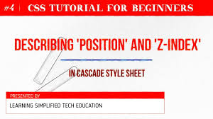 CSS Position and Z-index Definition - CSS Tutorial for Beginners ...