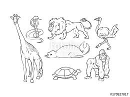 Wild drawing of animals Geometric Cartoon Wild Animals Drawing Set Handmade Clipart Vector Ayoqqorg Cartoon Wild Animals Drawing Set Handmade Clipart Vector