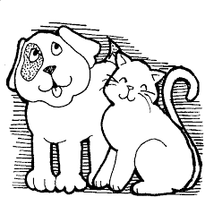 dog and cat black and white. Brilliant And Black And White Cat Dog Clipart 1 For O