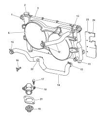 1997 dodge grand caravan radiator related parts thumbnail 3