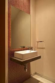 Divine Bathroom Decorating Ideas Using Powder Room Basins : Top Notch  Bathroom Decorating Ideas Using Rectangular