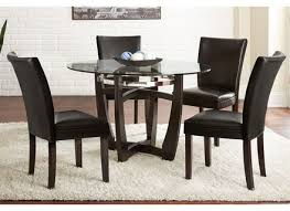 dining room table set 5 piece modern kitchen furniture leather 4 chairs black ebay
