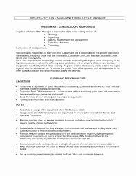 Administrative Officer Sample Resume New Concierge Job Description Resume