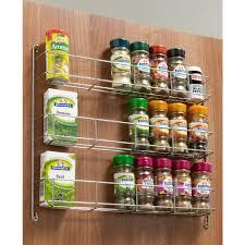 Kitchen Cupboard Storage Dynasty Chrome Spice Herb Jar Rack Holder Cupboard Door Storage