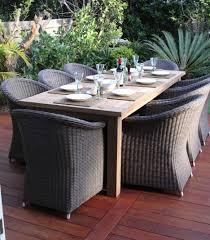 Outdoor Table Decor Exterior Exciting Weatherproof Rattan Garden Furniture For