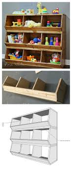 wooden toys toy play kitchen furniture storage build these bulk bins out of x boards easiest plans out there by ana