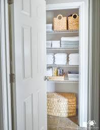 bathroom closet shelving. bathroom with closet design elegant organized linen anyone can have kelley nan shelving e