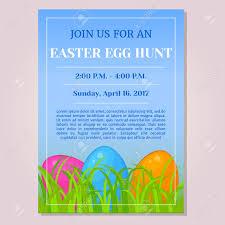 Easter Egg Hunt Invitation Flyer Poster Or Placard Template