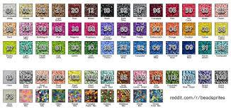 Perler Brand Color Chart I Imgur Com Hama Beads