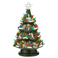 Ceramic Christmas Light Up Tree Disney Retro Ceramic Light Up Tree Animated Christmas