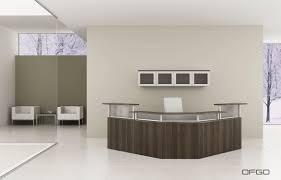 corner reception desk modular glass laminate