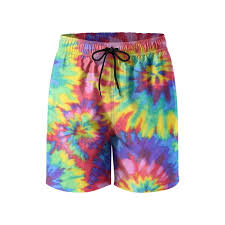 Tie Dye Designs For Shorts Amazon Com Milala Design Mens Tie Dye Print Quick Dry