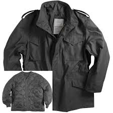 picture of alpha industries m 65 field coat with liner black