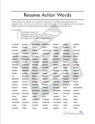 Resume Adjectives Custom Adjectives For Resumes Strong Action Words Active Verbs Hot Make