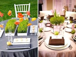 round table centerpiece ideas wheat grass centerpieces decorating for birthday party