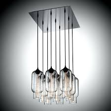 beautiful rectangular cage chandelier