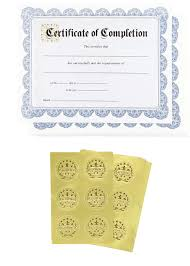 Completion Certificates Certificate Paper 48 Certificate Of Completion Award Certificates With 48 Excellence Gold Foil Seal Stickers For Student Teacher Professor Blue