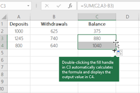 Excel Checkbook Formulas Calculate A Running Balance Excel