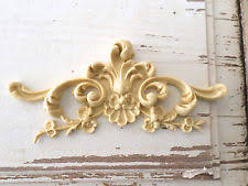 wood appliques for furniture. Exellent Furniture ARCHITECTURAL CARVED FLORAL CREST  FURNITURE APPLIQUESWOOD U0026  RESINFLEXIBLE And Wood Appliques For Furniture B