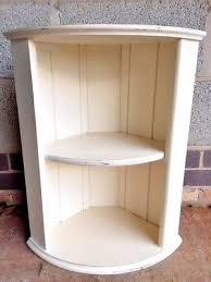 Shabby Chic Corner Shelves Simple SHABBY CHIC CORNER SHELVES Wooden Shelving Cream Neat Vintage
