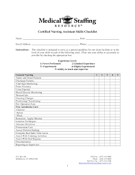 25 Images Of Nursing Assistant Checklist Template Kpopped Com