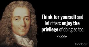 Quotes About Doing Something For Yourself Best of Voltaire Quote Think For Yourself And Let Others Do Same Goalcast