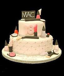 18th mac makeup cake