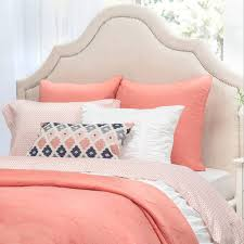 Coral Scalloped Quilt | Crane & Canopy & Bedroom inspiration and bedding decor | The Scalloped Coral Quilt & Sham  Duvet Cover | Crane Adamdwight.com