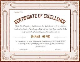 Certificate Of Excellence Template Word 100 best Certificates images on Pinterest Award certificates 5