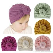 Satın Al Çocukların Bebek Çocuk Kapaklar Için 18 Renk Sarık Bebek Kap 0 3  Yıl Katı Saf Renk Hint Kap, TL12.43