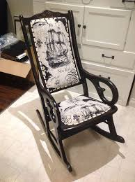 antique rocking chair update, painted furniture, repurposing upcycling,  reupholster